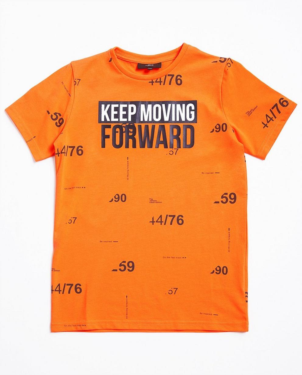 Neon-orange T-Shirt - mit Print - JBC